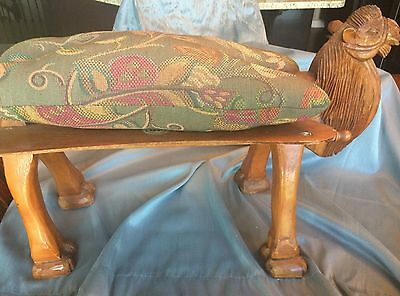 Vtg Celal Aykut Camel Saddle Hand Carved