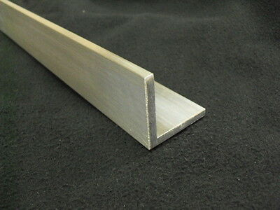 """3/16"""" Aluminum Angle 1"""" x 1"""" x 36"""" long Architectural 6063 Mill Finish"""