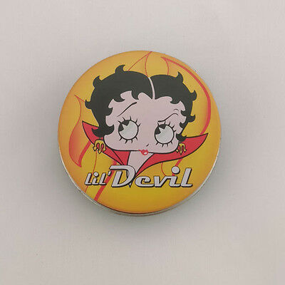 "Vandor Betty Boop Lil' Devil 2"" Round Stash Tin 111278 New"