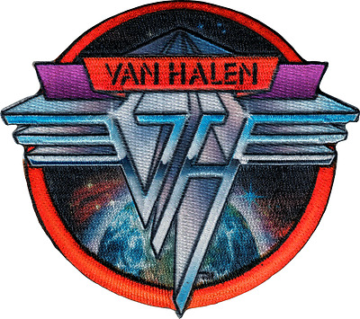 110043 Van Halen Metal Logo Space Background Rock Music Band Sew Iron On Patch