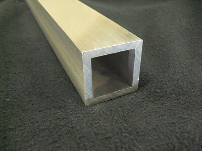"2"" Aluminum Square Tube 1/4"" wall x 18"" long 6061-T6 Mill Finish"