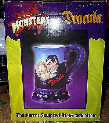 "Universal Studios Monsters ""Dracula"" Stein from Horror Sculpted Collection NIB"