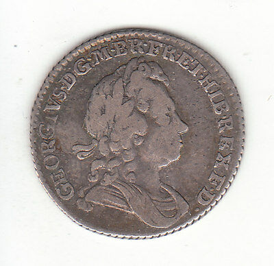 1723 SSC Great Britain George I Sterling Silver Sixpence. NICE Coin.