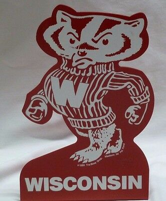 Vintage Red Metal Bucky Badger Bookends- UW Madison Mascot 1986 The Book Shop