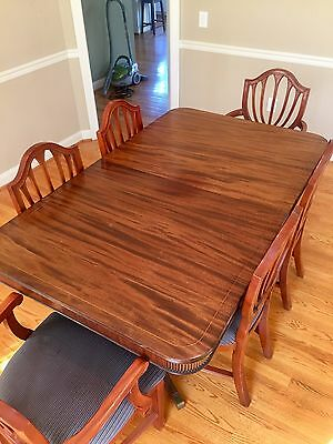 Dining Table: Duncan Phyfe Style