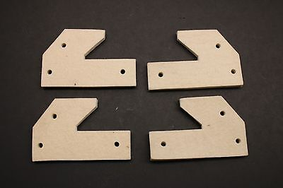 Qty (4) Ammco 990160 / 25771 Felt Wiper Pads For 1000 Disc / Drum Brake Lathe