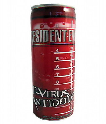 Resident Evil T-Virus Antidote 6 Energy Drink 8 oz Cans, NEW SEALED UNOPENED
