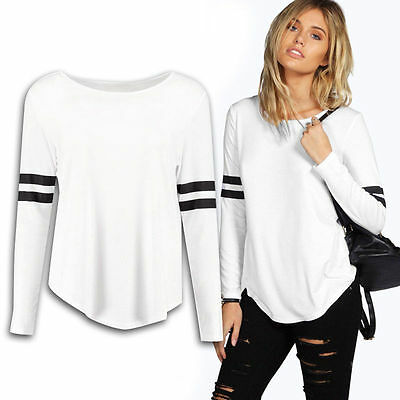New Women Blouse Summer Casual Loose Long Sleeve Blouse Tops Casual T-shirt