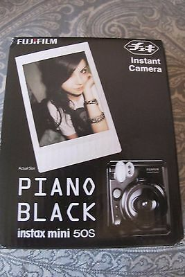Fujifilm Instax Mini 50s Instant Camera Piano Black NEW