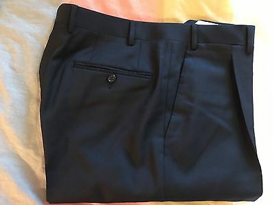 New Men's Canali Classic Black Dress Pants Size 32W Unhemmed - Retail $295