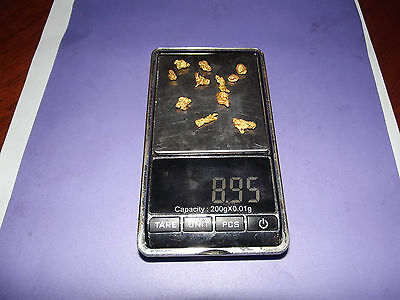 Natural Australian Gold Nuggets 8.95 grams total
