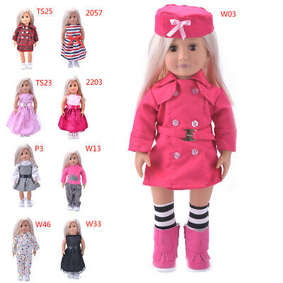Hot Madame Handmade fashion Doll Clothes dress For 18 inch American Girl Doll LW
