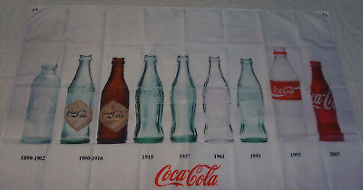 COCA COLA History of Bottles Poster Banner 5x3 Feet