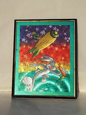 Looney Tunes Warner Bros. Character Foil Art Picture.. Bugs...marvin...