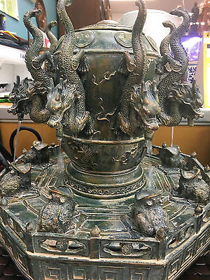 Water Fountain Water feature fengshui 8 bagua dragon money frog luxury good luck