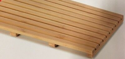 Bamboo 53 X 35.5x2.5 SLAT Timber Bathroom Mat shower mat non slippy DUCK BOARD