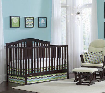 Convertible Crib Set Mattress Included Toddler Bed Grows With Infant To Child