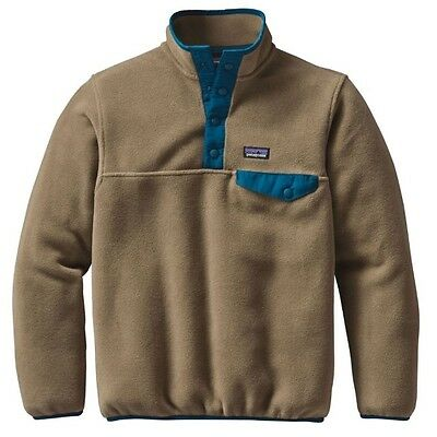 Patagonia Boys Lightweight Synchilla Fleece Pullover Jacket Blue LARGE Unisex