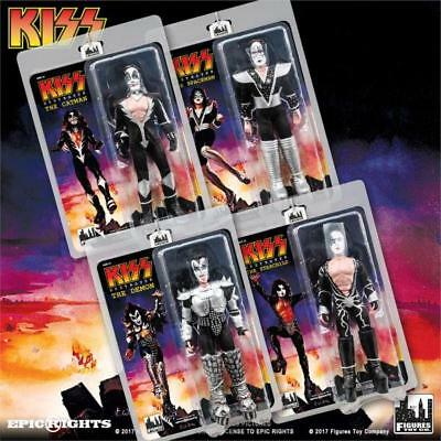 """KISS Destroyer Series 7 Action 8"""" Figures Set of 4"""
