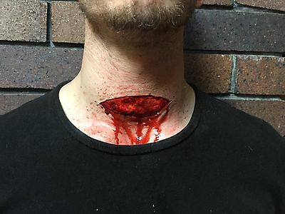 Complete Kit Slit Throat, FX Makeup, Halloween Special Effects Sfx