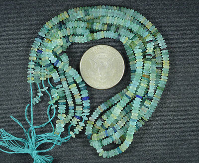 Ancient Roman Glass Rondelle Beads 1 Strand 100- 200 Bc 651