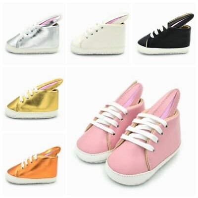Newborn Kids Baby Boys Girls Canvas Lacing Shoes Toddler Anti Slip Sole Sneakers