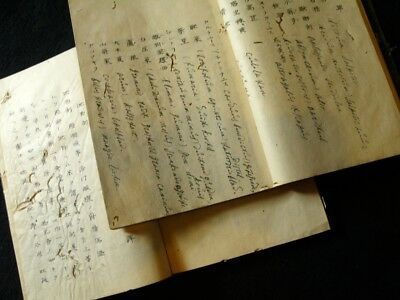 Crude drug Guide for Doctor Handwritten Manuscript Medical book Dutch Japanese