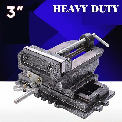 "New 3"" Cross Drill Press Vise X-Y Clamp Machine Slide Metal Milling 2 Way HD"
