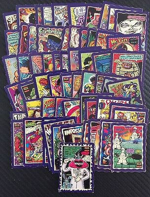 Oddbodz Glo GHC Complete Full Set 61/61 All Cards DOC FEVER Purple Red Glow Zone