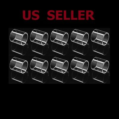 10Pcs Colorless Spare Replacement Tank Pyrex Glass Tube For Vape Pen 22