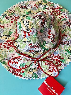 New Hanna Andersson Girls Floral Sun Hat Sz: Large 6-12 Yrs