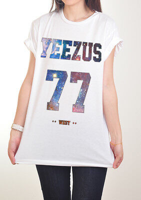 d6a81971a5745e New Yeezus 77 Kanye West Yeezy Hip Hop Tops Tshirt T-Shirt Men Women S M L