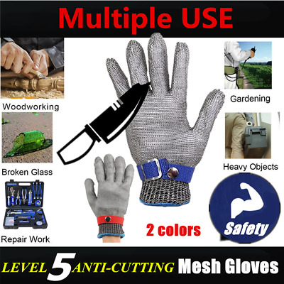 Breathable Comfortable Safety Cut Proof Stab Resistant Metal Mesh Gloves LOT RW