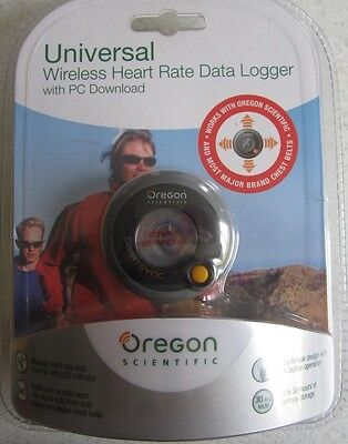 Oregon Scientific wireless heart rate data logger works with most chest belts