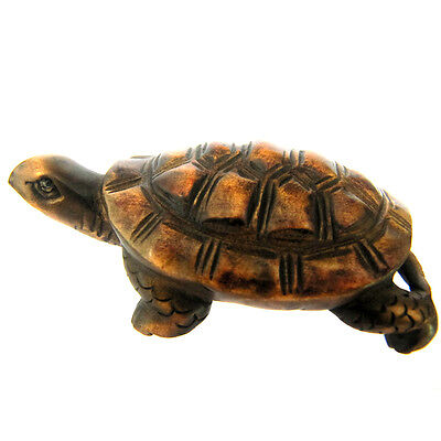 Lovely - 2'' Nice Quanlity Hand Carved Boxwood Netsuke: Lucky Turtle