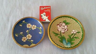 Pair of Cloisonne Pin Dishes