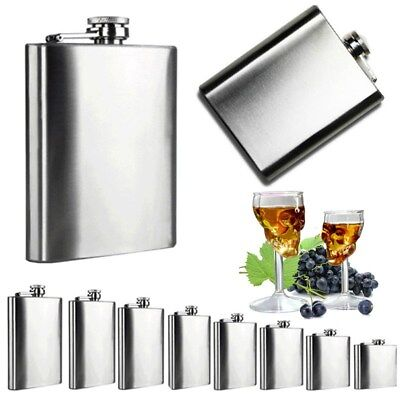 3 4 5 6 7 8 10 18oz Stainless Steel Hip Liquor Whiskey Alcohol Flask Cap Funnel