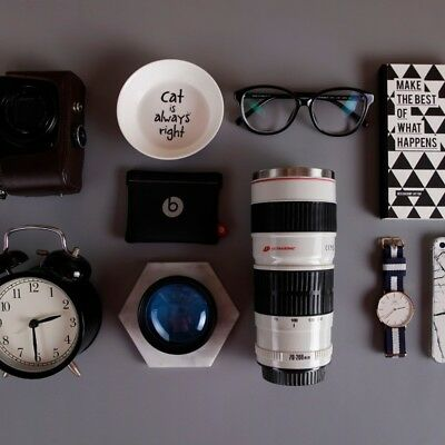 Canon Camera Lens Cup Shaped EF 70-200mm Water Coffee Lens Mug Glass Lens Lid