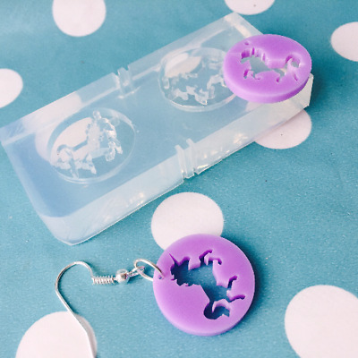 Silicone Earring Unicorn Mold  - Earrings Resin Crafter Mould Mystical Animal