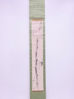 33142# Japanese Wall Scroll / Hand Painted / Bamboo