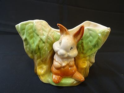 Vintage Withernsea Eastgate pottery fauna posy vase
