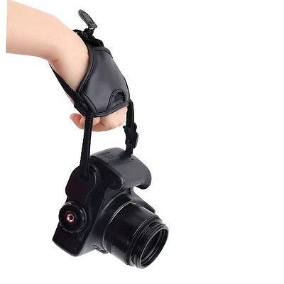 PU Leather Soft Camera Hand Grip Wrist Strap for Canon Nikon Sony SLR/DSLR JK