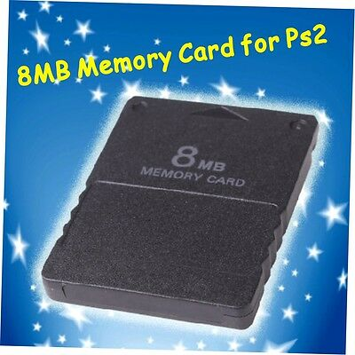 New 8MB 8M 8 MB Memory Card for PS2 Playstation 2 PS 2 K#