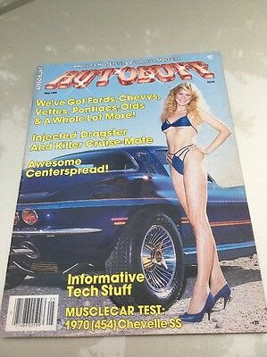 Vintage Autobuff Adult Mens Magazine Pin-Up May 1986 Hot Rod Muscle Car #35