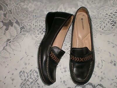 Made By Naturalizer - Quality Black Leather Shoes - Size Uk 9.5-10  Us 12W