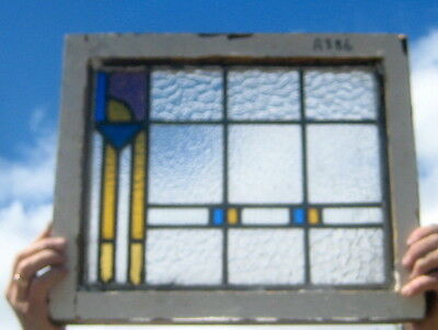 A386   Stained Glass window . Ca 1920