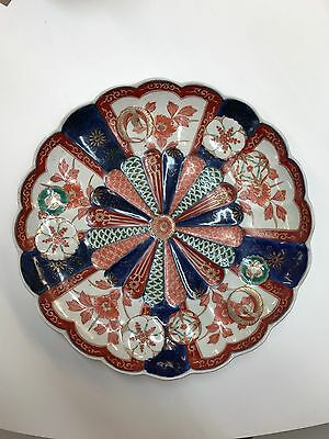 Large Antique Imari Charger Scalloped edge : imari charger
