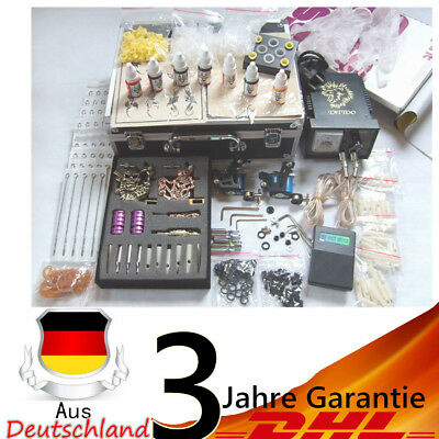 Komplett Tätowierung Tattoo maschine Kit / Set 4 Tattoo guns inks needles 2018