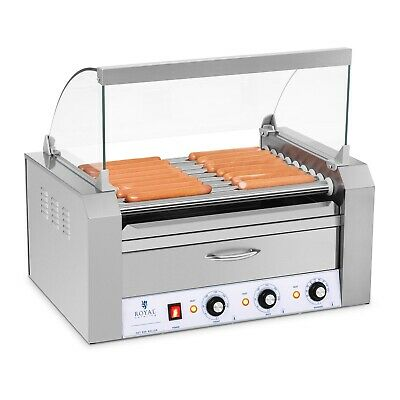 Hot Dog Grill - 2 Zonen Edelstahl Rollengrill Würstchengrill 9 Rollen 2200 W