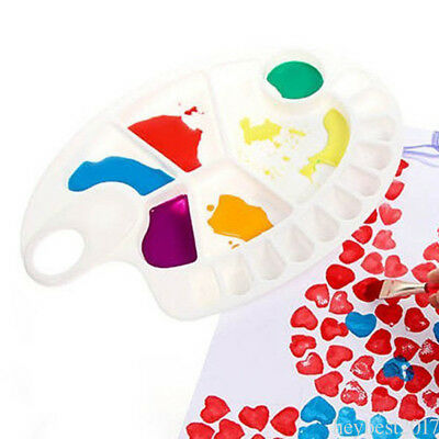 Newest Trendy Plastic Palette for Printing Art with fish shape White Palette he6